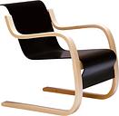 """Artek Aalto armchair 42 """"Small Paimio"""", black"""