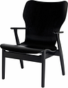 Artek Domus lounge chair, stained black