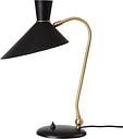 Warm Nordic Bloom table lamp, black