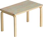 Artek Aalto bench 153B ColoRing, red - turquoise