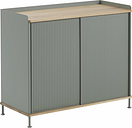 Muuto Enfold sideboard, high, oak - dusty green