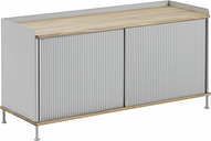 Muuto Enfold sideboard, low, oak - grey