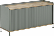 Muuto Enfold sideboard, low, oak - dusty green