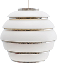 "Artek Aalto pendant A331 ""Beehive"", white - chrome"