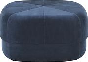 Normann Copenhagen Circus pouf, large, dark blue velour