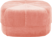 Normann Copenhagen Circus pouf, large, blush velour