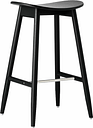 Massproductions Icha bar stool, 65 cm, black stained oak
