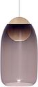 Mater Liuku Ball pendant, violet glass shade