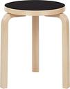 Artek Aalto stool 60, black linoleum