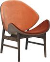 Warm Nordic The Orange lounge chair, smoked oak - brick red/rusty rose