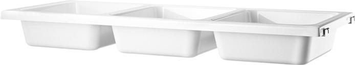 String Furniture String bowl shelf, white