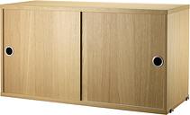 String Furniture String cabinet, 78 x 30 cm, oak