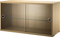 String Furniture String display cabinet, oak