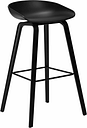 Hay About a Stool AAS32, black, PU lacquer