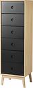 FDB Møbler F23 Butler dresser, high, oak - black