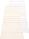 Pappelina Carl rug 70 x 180 cm, vanilla - white