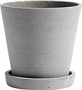 Hay Flowerpot and saucer, M, grey