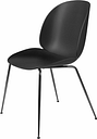 Gubi Beetle chair, black chrome - black