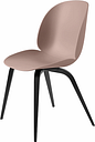 Gubi Beetle chair, black beech - sweet pink