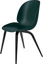 Gubi Beetle chair, black beech - green