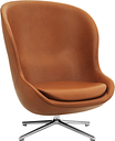Normann Copenhagen Hyg lounge chair high, swivel, Ultra Leather 41574