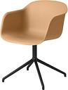 Muuto Fiber armchair, swivel base, ochre - black