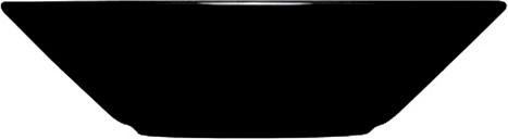 Iittala Teema deep plate 21 cm, black