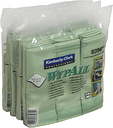 WYPALL* Mikrofaser-Allzwecktücher, Größe: ca. 40 x 40 cm, 1 Karton = 4 Boxen á 6 Tücher, grün