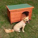 Caseta de madera Woody con puerta para perros - L: 115 x 76 x 80 cm (An x P x Al)