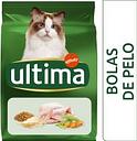 Ultima Bolas de Pelo con pavo para gatos - 7,5 kg