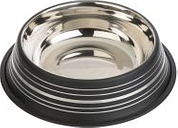 Comedero Silver Line de acero inoxidable negro mate - Diámetro 20 cm - 450 ml