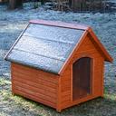 Caseta de madera Spike All Seasons para perros - XL: 112 x 102 x 107 cm (An x P x Al)