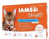 IAMS Delights Adult en salsa 12 x 85 g - Mezcla de la tierra