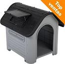 Caseta de plástico Polly para perros - S: 60 x 74 x 66 cm (An x P x Al)