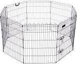 Parque octogonal negro para cachorros y pequeños animales - 8 piezas de 57 x 61 cm (An x Al)