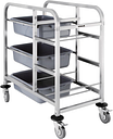 Vogue Stainless Steel Bussing Trolley