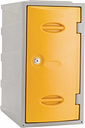 Extreme Plastic Single Door Locker Camlock Yellow 600mm