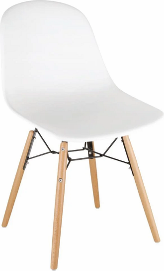 Bolero Arlo Side Chair White (Pack 2)