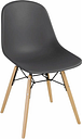 Bolero Arlo PP Moulded Side Chair Charcoal with Spindle Legs (Pack of 2)