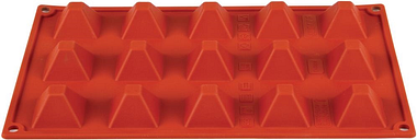 Pavoni Formaflex Silicone Pyramid Mould 15 Cup