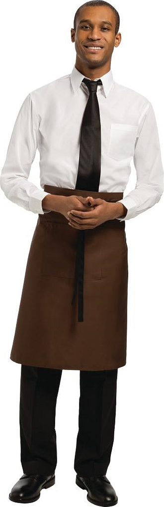 Chef Works Regular Bistro Apron Chocolate Size: R