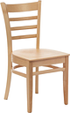 Fameg Slatted Side Chairs Natural Beech (Pack of 2)