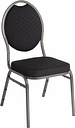 Bolero Oval Back Banquet Chairs Grey & Black (Pack of 4)