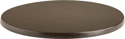 Werzalit Pre-drilled Round Table Top Wenge 800mm