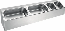 Vogue Stainless Steel Gastronorm Pan Rack Long