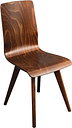 Fameg Wooden Flow Bentwood Walnut Side Chairs (Pack of 2)