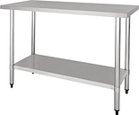 Nisbets Essentials Self Assembly Stainless Steel Table 1200 x 600mm