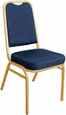 Bolero Square Back Banquet Chairs Blue & Gold (Pack of 4)