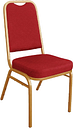 Bolero Square Back Banquet Chairs Red & Gold (Pack of 4)