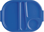 Kristallon Large Polycarbonate Compartment Food Trays Blue 375mm